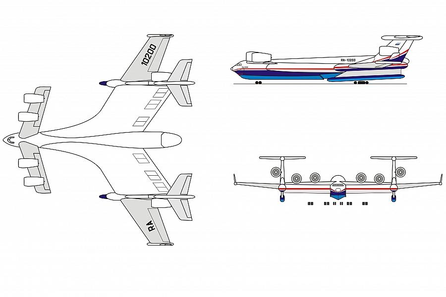 A Beriev está desenvolvendo uma nova aeronave anfíbia com mais de 1.000 toneladas