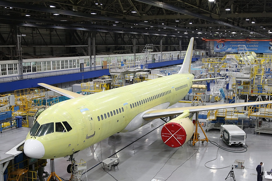 Image result for Irkut Corporation completed construction of the third MC-21-300 flight test aircraft