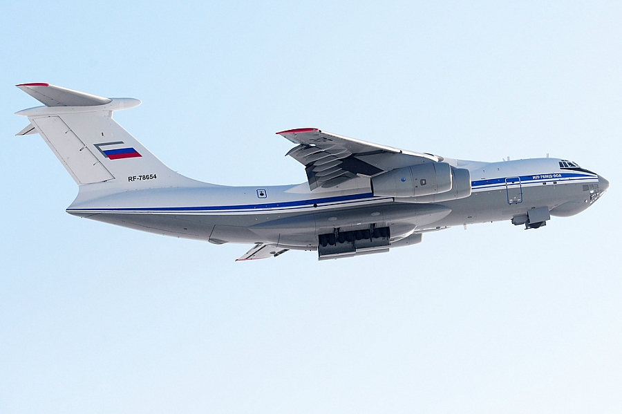 Russia S 10th Serial Produced Il 76md 90a Military Transport